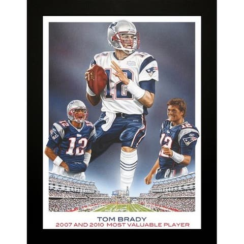 FRAMED Exclusive Tom Brady by Darryl Vlasak 24x36 Print Original Oil Painting Print Patriots Football Art - 24 x 36