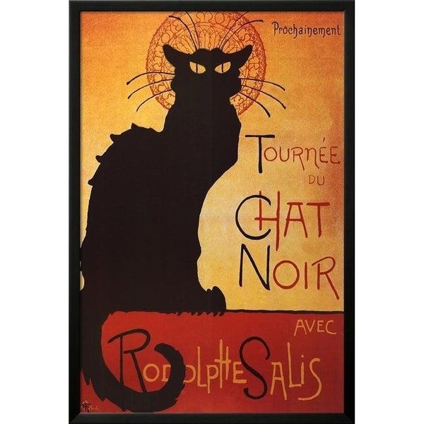 FRAMED Theophile Steinlen Tournee du Chat Noir Avec Rodolphe Salis 36x24 Art Print Poster - 36 x 24