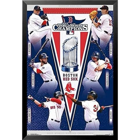 FRAMED Boston Red Sox 2013 World Series Champions Composite 34x22.5 Sports Poster - 34 x 22