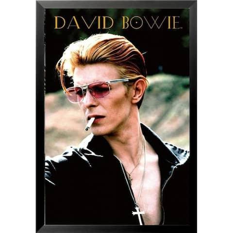 FRAMED David Bowie Rebel Rebel 1974 Diamond Dogs Album 36x24 Music Art Print Poster - 36 x 24
