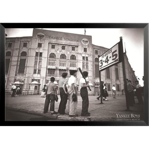 FRAMED Vintage Yankee Stadium Yankee Boys 36x24 Sports Art Print Poster - 36 x 24