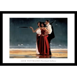 FRAMED The Missing Man EXTRA LARGE by Jack Vettriano, 39 x 27 Art Poster Print - 39 x 27