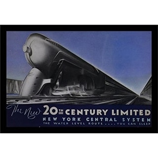 FRAMED The New 20th Century Limited Vintage Advertisement 18x12 Art Poster Print - 18 x 12