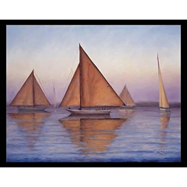 FRAMED Skipjack by Karl Soderlund 28x22 Art Print Poster Sailing Ocean Coastal Nautical - 28 x 22