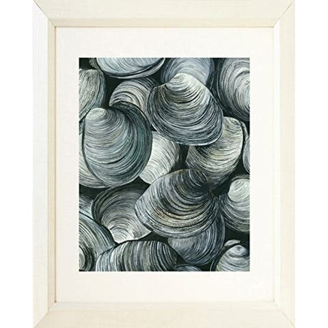 FRAMED Clams by Damon Crook Nautical Coastal Graphic Art Print