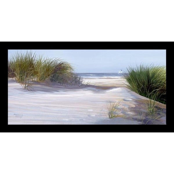 FRAMED Heading In by Jacqueline Penney 12x6 Coastal Art Print Poster - 12 x 6