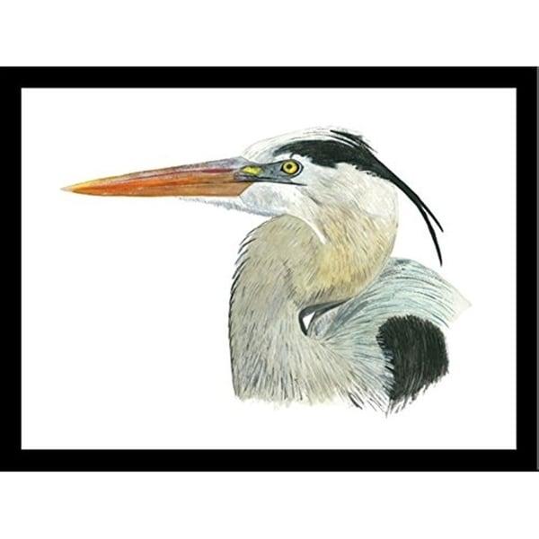 FRAMED Heron By Damon Crook Graphic Art Print