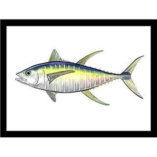 FRAMED Yellow Fin Tuna By Damon Crook  Graphic Art Print