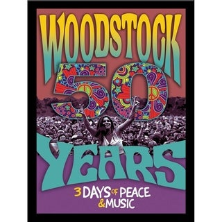 FRAMED Woodstock 50th Anniversary Photograph by Bob Downs  Graphic Art Print