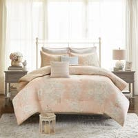 Madison Park Gladys Blush 7 Piece Cotton Printed Comforter Set