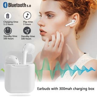 Wireless Bluetooth 5.0 Earbuds Touch TWS Headset Headphone with Quality Auto-pairing Hand-free Earbuds with 300mah charging box