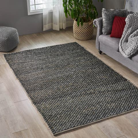 Gantt Boho Metallized Accented Area Rug with Cotton Weave by Christopher Knight Home