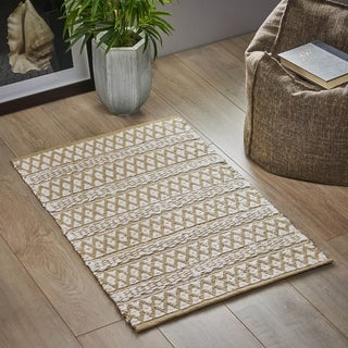 Ferrier Boho Cotton Scatter Rug by Christopher Knight Home