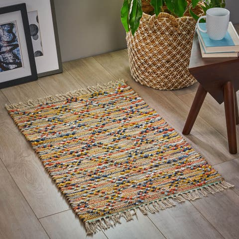 Hadden Boho Cotton and Hemp Scatter Rug by Christopher Knight Home