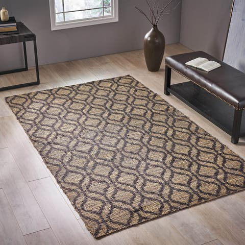 Farham Transitional Jute Area Rug by Christopher Knight Home