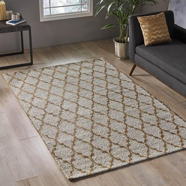 Christopher Knight Home Hardwin Modern Fabric/ Hemp Area Rug - 5' x 7'11