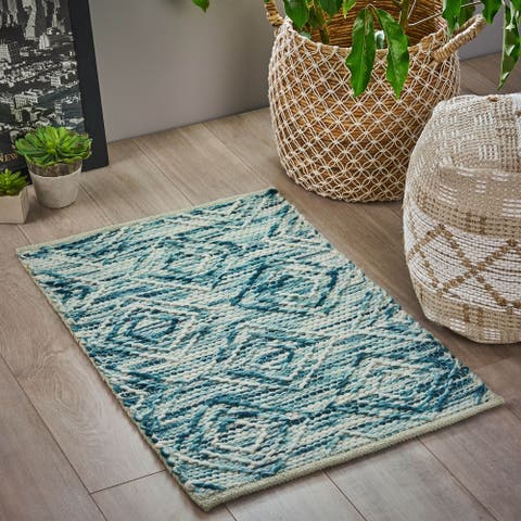 Langrick Boho Wool and Cotton Scatter Rug by Christopher Knight Home - 2' x 3'