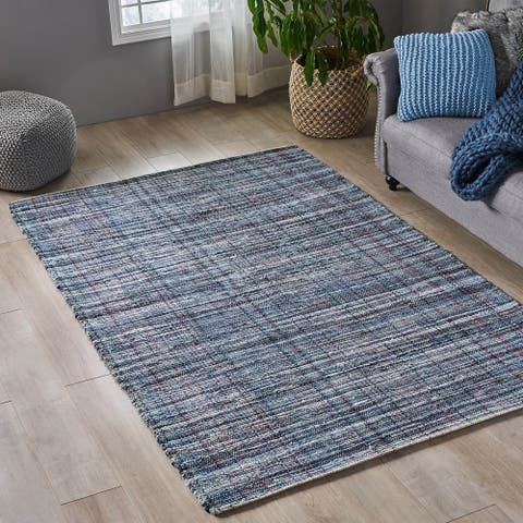 Fulstow Boho Denim and Cotton Area Rug by Christopher Knight Home - 5' x 8'