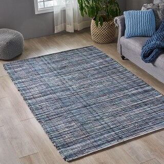 Christopher Knight Home Fulstow Boho Denim/ Cotton Area Rug - 5'3 x 8'3