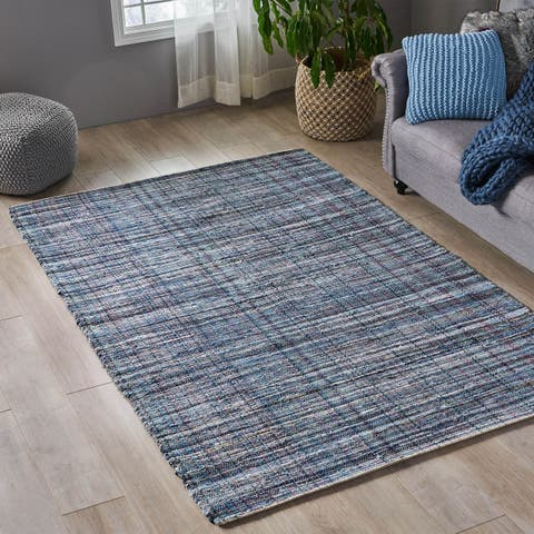 Fulstow Boho Denim and Cotton Area Rug by Christopher Knight Home