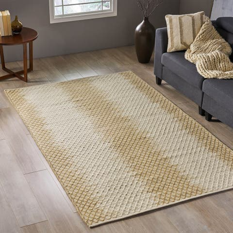 Christopher Knight Home Kerslake Transitional Wool Area Rug - 8' x 5'