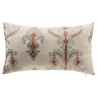 Isabella Tribal Damask Linen Blend Lumbar Pillow
