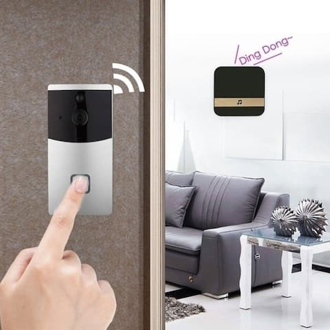 Smart WiFi Visual Dingdong Bell Smart Doorbell Receiver for Smart Wireless WiFi Security Doorbell Black