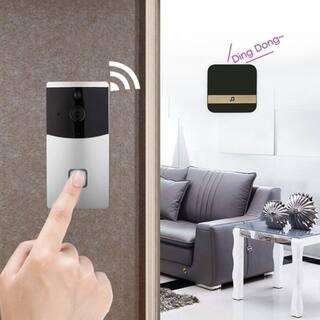 Smart WiFi Visual Dingdong Bell Smart Doorbell Receiver for Smart Wireless WiFi Security Doorbell Black