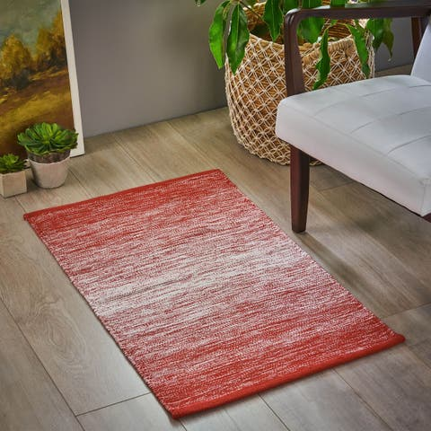 Fareholm Boho Chenille Cotton Scatter Rug by Christopher Knight Home