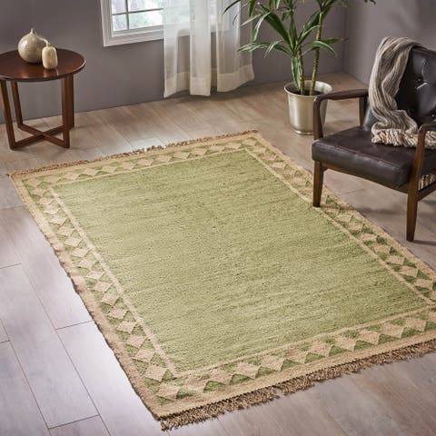 Avant Transitional Wool Border Area Rug by Christopher Knight Home - 5' x 8'