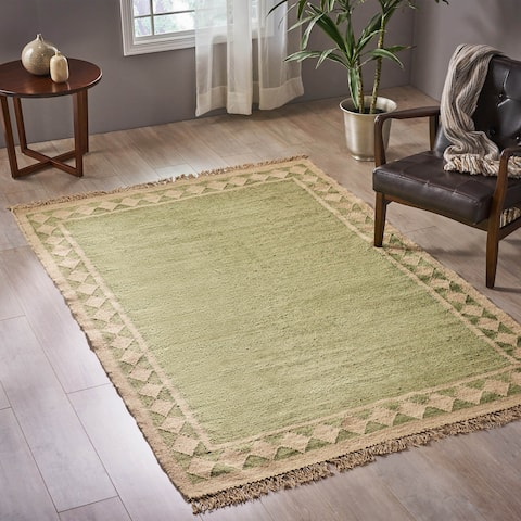 Christopher Knight Home Avant Transitional Wool Border Area Rug - 5'2 x 8'