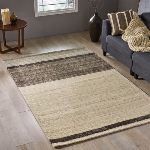 Debbie Transitional Wool Area Rug by Christopher Knight Home