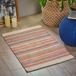 Cullen Boho Cotton Scatter Rug by Christopher Knight Home