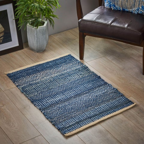 Christopher Knight Home Anita Boho Denim and Wool Scatter Rug