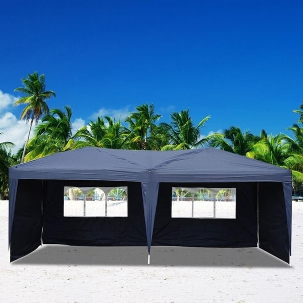 10'x20' Outdoor Four Sides Waterproof Gazebo Canopy Folding Tent - 4 Sides
