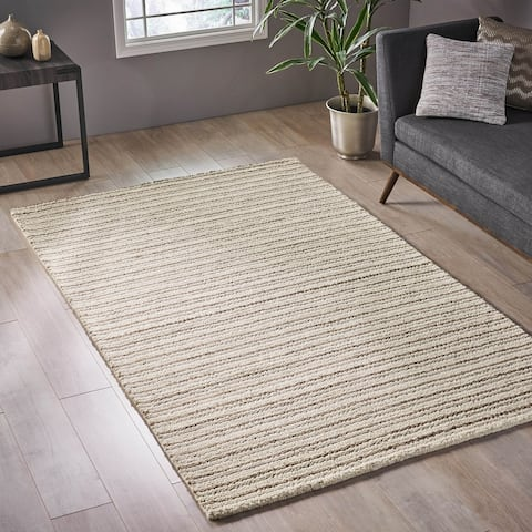 Cajon Modern Wool Area Rug by Christopher Knight Home - 5' x 8'