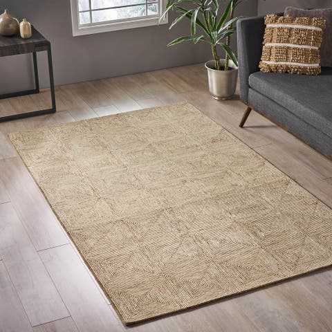 Clonivs Modern Wool Area Rug by Christopher Knight Home - 5' x 8'