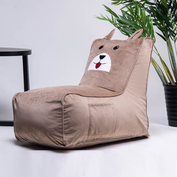 Enjoyable Shop Merax Cute Animal Memory Foam Bag Chair For Kids On Andrewgaddart Wooden Chair Designs For Living Room Andrewgaddartcom