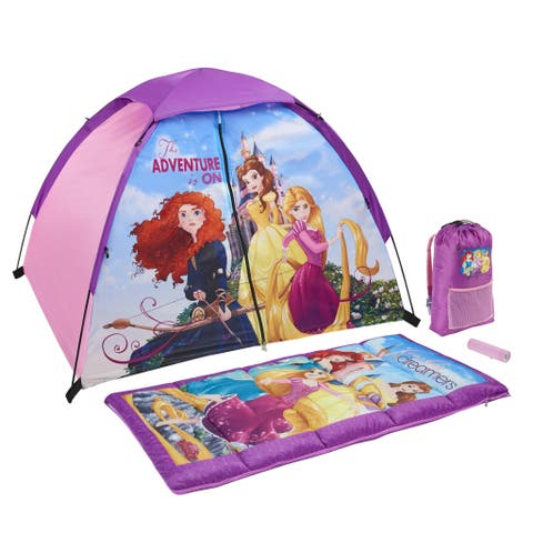 Disney Princess Kids 4-Piece Fun Camp Kit - 48.0 In. X 36.0 In. X 36.0 In.