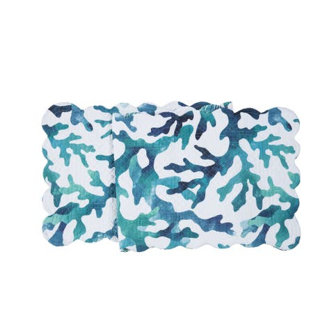 Aqua Reef Quilted Runner