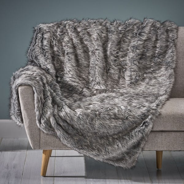 Warrin Faux Fur Throw Blanket by Christopher Knight Home. Opens flyout.