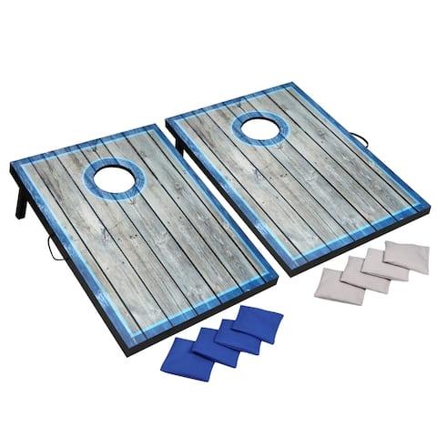 Atlantic LED Cornhole Set - Blue/White