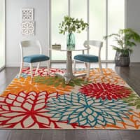 Nourison Aloha Indoor/Outdoor Floral Area Rug