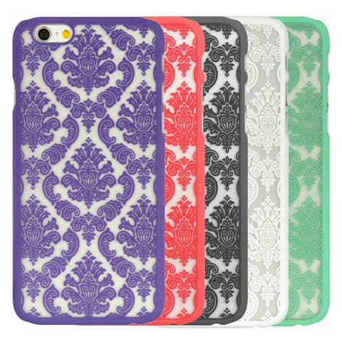 TPU Edges and Lace Design on Fogged Plastic Slim Case for iPhone 6 iPhone 6s