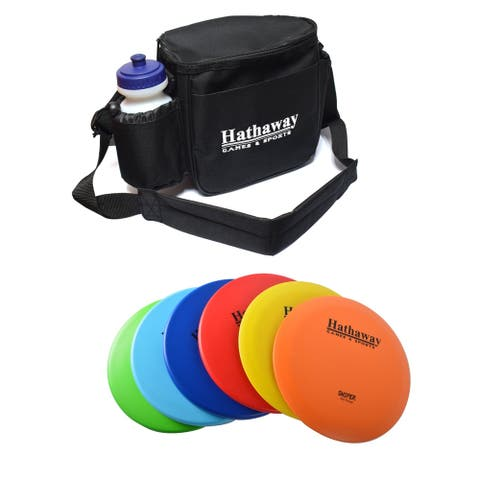 Disc Golf Starter Set with 6 Discs and Case - 165 - 172-gram, 8.25-in - Multi