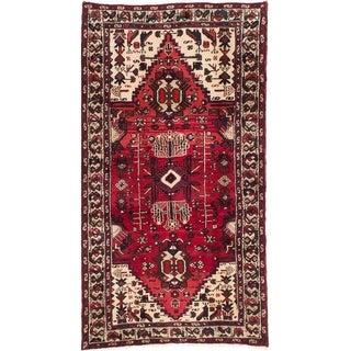 eCarpetGallery  Hand-knotted Darjazin Dark Burgundy Wool Rug - 3'5 x 6'6