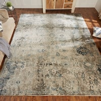 Theory Ivory / Blue Area Rug