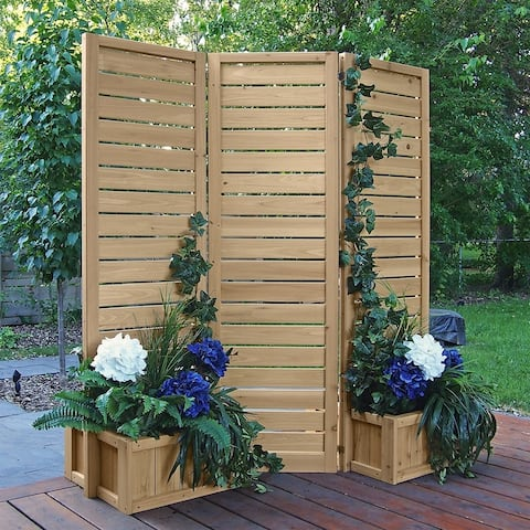 5' x 5' Outdoor Privacy screen with Planters