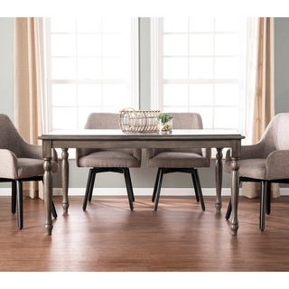 The Gray Barn Huron Farmhouse Grey Wood Dining Table