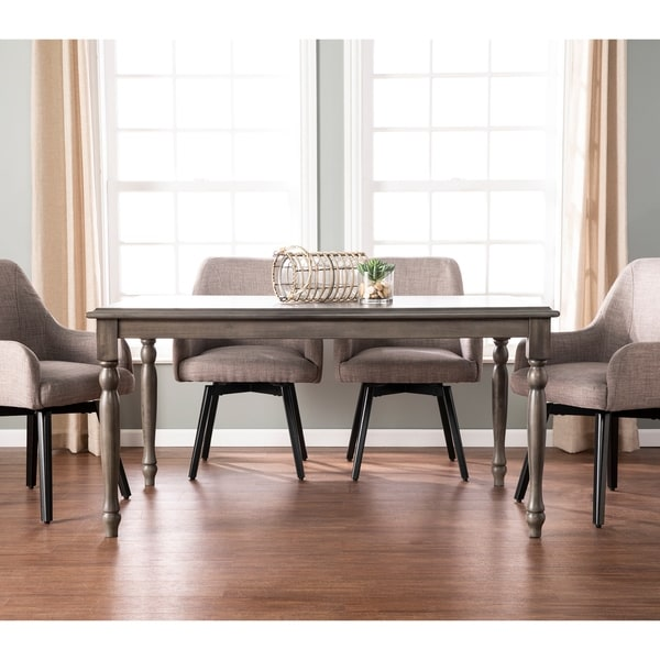 Shop Priage By Zinus Farmhouse Wood Dining Table: Shop The Gray Barn Huron Farmhouse Gray Wood Dining Table